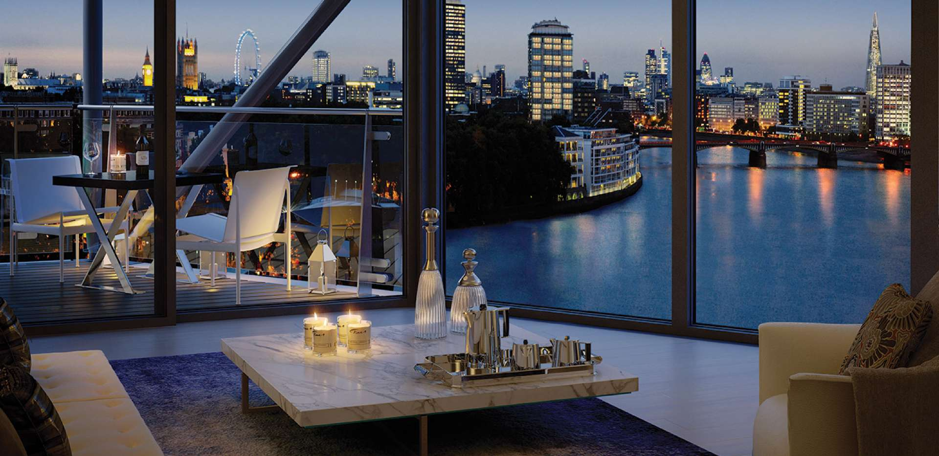 Brand new interior design project for luxury apartment in Nine Elms
