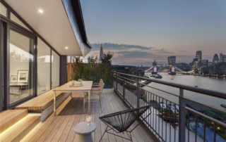 Interior design project for a stunning riverside penthouse apartment in Shad Thames